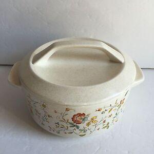 Vintage-Lenox-Temper-Ware-Merriment-6-5-Round-Covered-Casserole-Baking-Dish-Lid