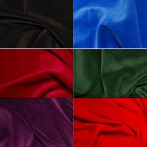 100-Cotton-Velvet-Fabric-Plain-Costume-Dressmaking-Eveningwear