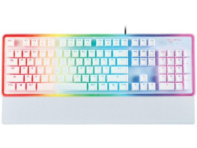 Rosewill Neon K51w Gaming Keyboard RGB LED Backlit Wired Membrane ...