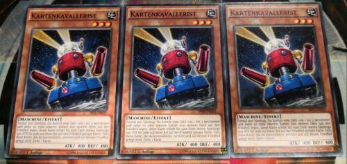 3x Kartenkavallerist SR03-DE015 COMMON DEUTSCH 1.AUFLAGE PLAYSET Yu-Gi-Oh!