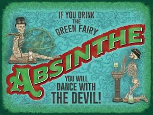 FRIDGE MAGNET ABSINTHE FROM VINTAGE ADVERTISEMENT THE GREEN FAIRY