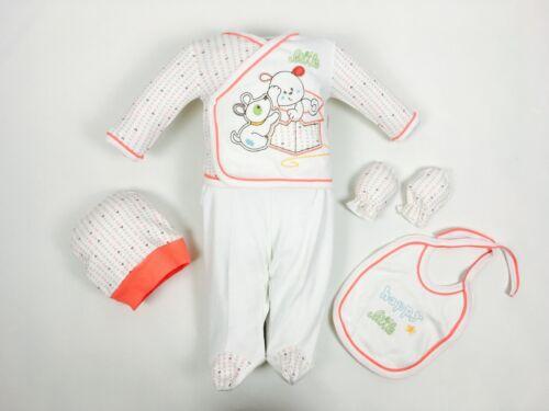   56//62 ♥ NEUF ♥ layette5 Piècespremier équipement,Taille 0-4 mois