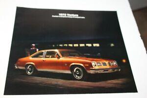 1975 Pontiac Firebird LeMans Grand Prix Bonneville FL Accessories Sales Brochure