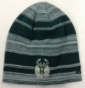 fc190694a3c NBA Milwaukee Bucks Adidas Cuffless Winter Knit Cap Hat Beanie Style ...
