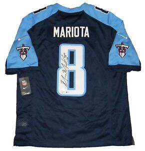 Details about MARCUS MARIOTA AUTOGRAPHED SIGNED TENNESSEE TITANS #8 NIKE LIMITED JERSEY BAS