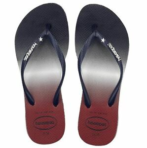 a7698cdf53e59d Details about Havaianas Women`s Flip Flops Slim USA Ombre Sandals Navy Blue  NWT