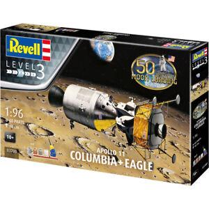 Revell-Apollo-11-50th-Anniversary-Columbia-amp-Eagle-Model-Kit-Scale-1-96-03700