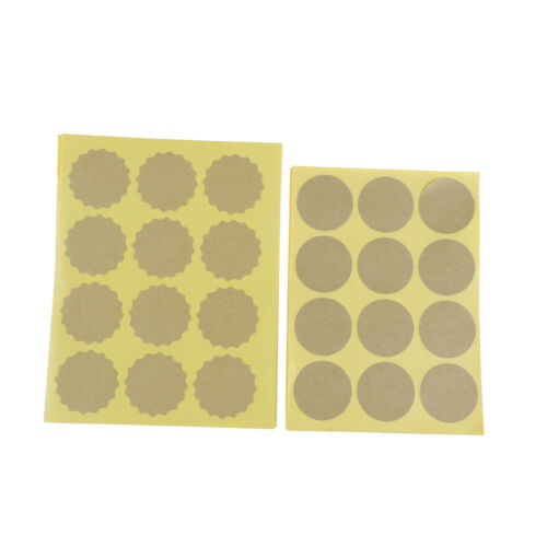 BD/_120pcs//lot Round Blank Kraft Paper Lables Seal Stickers Gifts Wrapping Tags