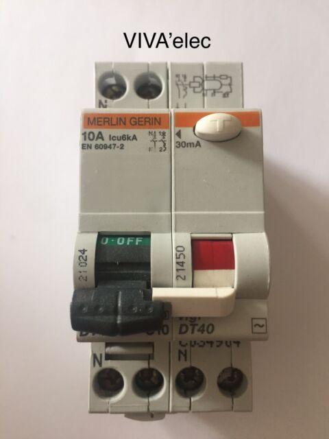 1 interrupteur différentiel 25 Ampères Merlin Gerin 30 mA réf 23164