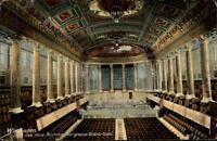 Wiesbaden alte Postkarte 1927 gelaufen Das neue Kurhaus großer Konzertsaal innen
