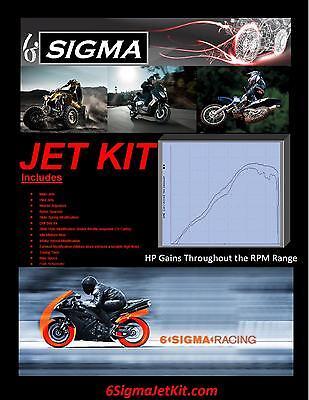Yamaha YFM350 YFM 350 cc Warrior 6Sigma Custom Carburetor Carb Stage 1-3 Jet Kit