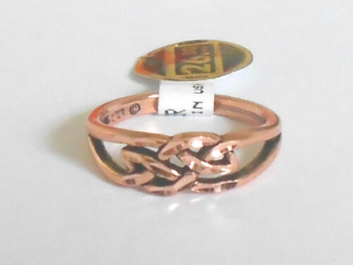 NEW PURE COPPER Womens Unique infinity Design Ring Sizes 5 thru 11-USA made