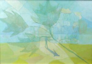 Composizione-ASTRATTO-tecnico-misto-surrealismo-silhouette-donna-ramo-albero