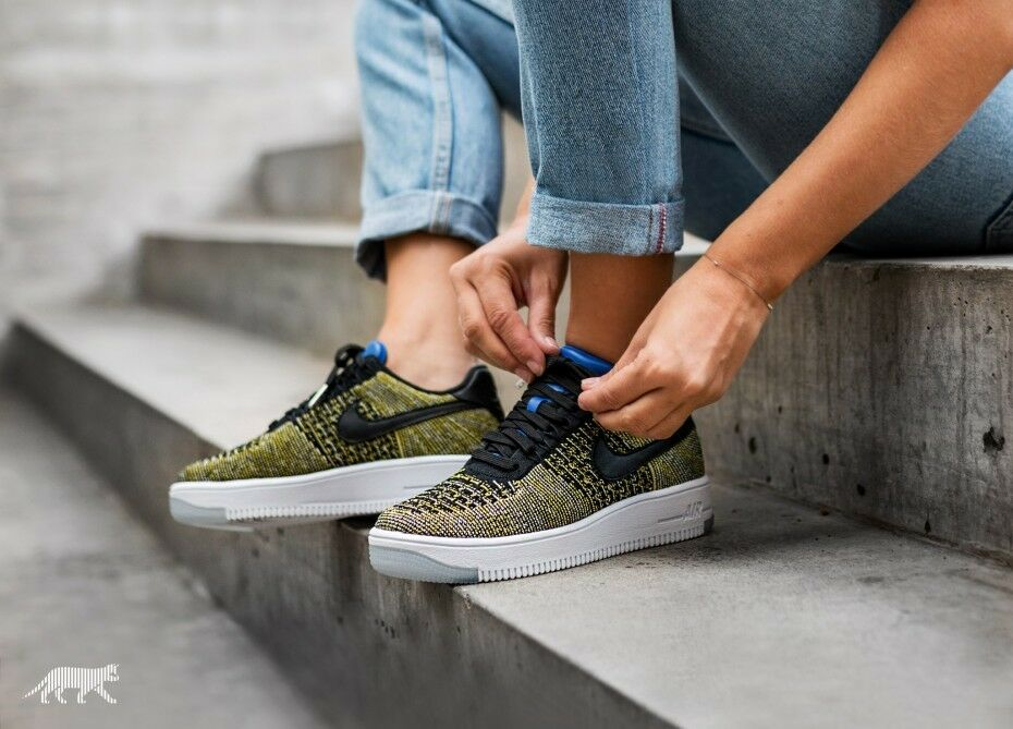 NIKE AIR FORCE 1 LOW FLYKNIT BLUE TINT.. FAST SHIPPING