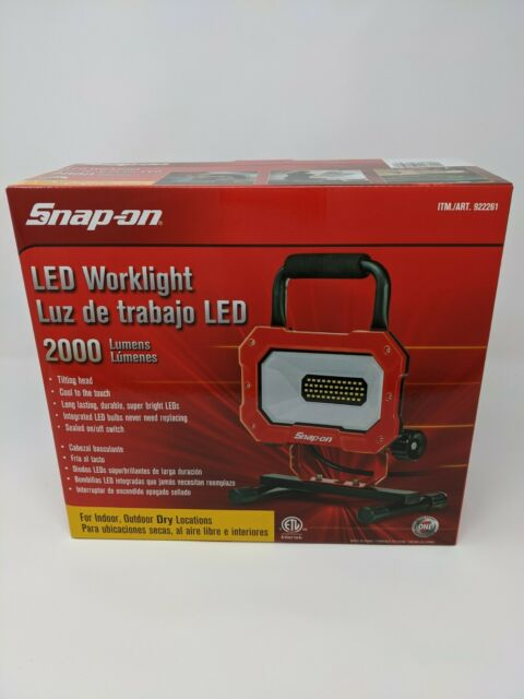 Snap-on Portable LED Worklight 2000 Lumens 25W Indoor/Outdoor Use