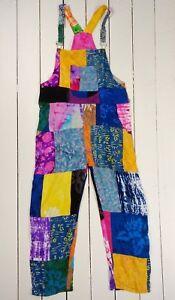Patchwork-Dungarees-Gringo-Fair-Trade-Festival-Hippy-1960s-Festival-Multicolour
