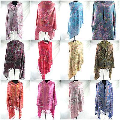 US Seller-evening wraps and shawls paisley  viscose pashmina scarf