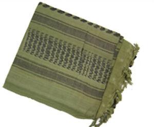 GREEN-And-BLACK-Military-Shemagh-Tactical-Arab-Desert-Keffiyeh-Scarf-Head-Wrap