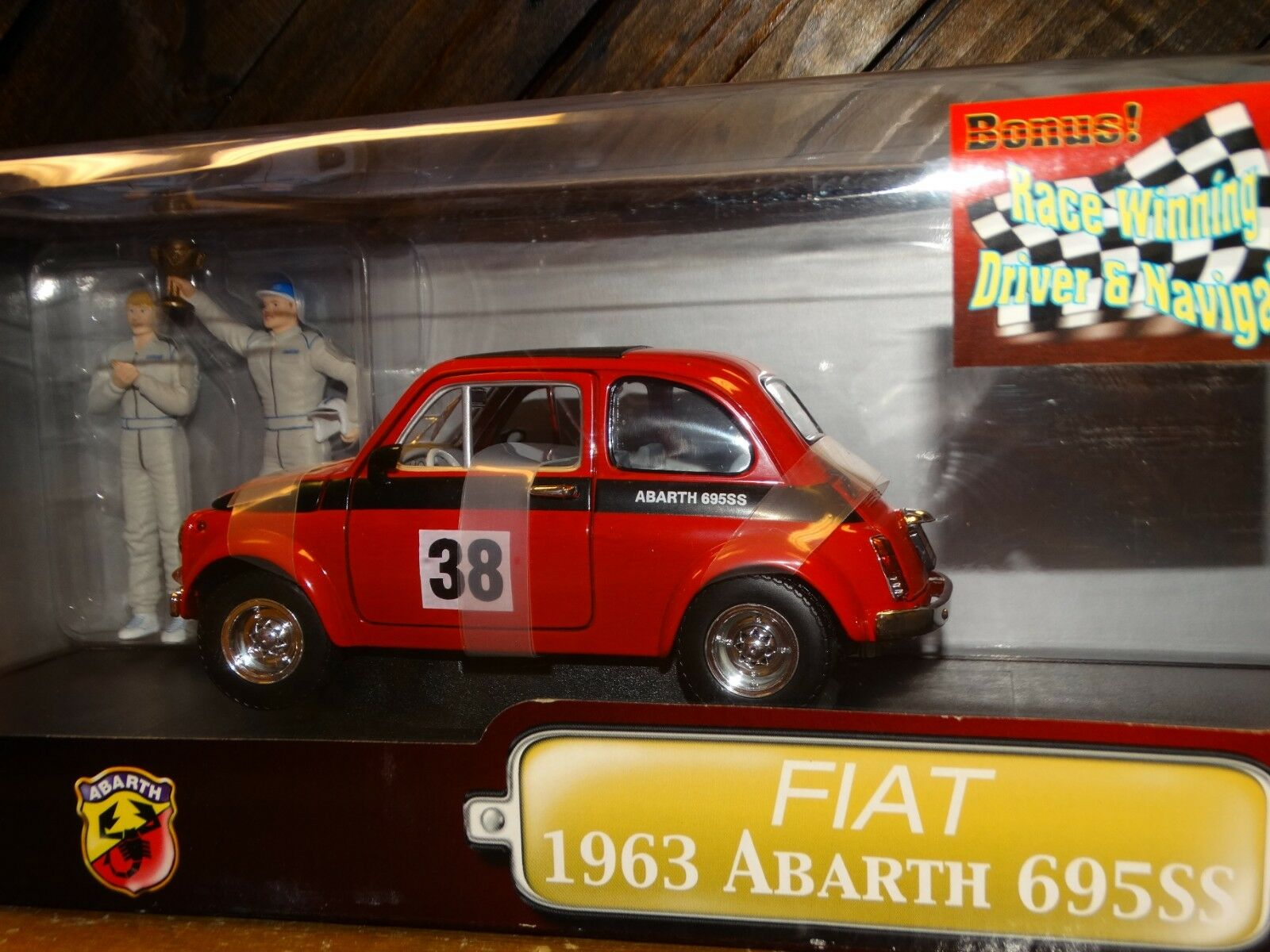 Road Signature 1963 Fiat Abarth 695SS Rally Car 1 18 Scale Diecast Race Drivers