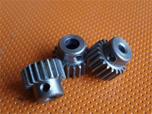 0.5 Mod 40T Piñón engranajes cilíndricos Acero Taladro 5//6//6.35mm con tornillos de ajuste