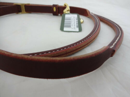 Roping Barrel Rein Burgundy Latigo Rolled Horse Tack Berlin Custom Leather Brass
