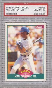 KEN-GRIFFEY-JR-ROOKIE-1989-Score-Traded-100T-Graded-PSA-10-GEM-MINT-Mariners