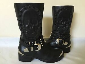 Alexander McQueenStudded Leather Boots Gr. IT 37 Z817ekqhW