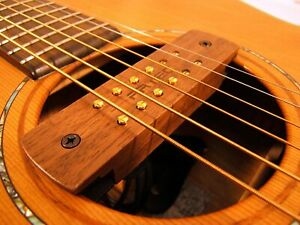 ARTEC-WALNUT-SOUNDHOLE-PICKUP-FOR-ACOUSTIC-GUITAR-6-or-12-STRING-HUMBUCKER-TYPE