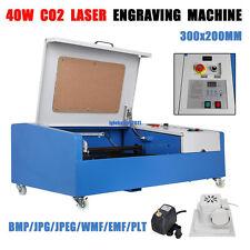 40W USB Port CO2 Laser Engraving Cutting Machine Engraver Cutter W/ Wheels