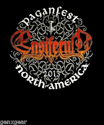 ENSIFERUM cd cvr PAGANFEST Official 2013 TOUR SHIRT SMALL New OOP