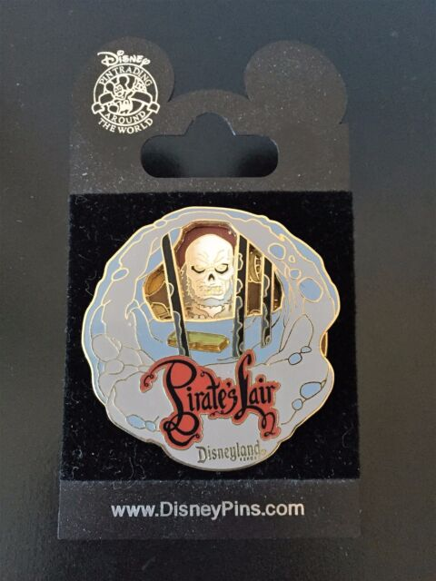 Pirate's Lair Skeleton  Jail Cell Tom Sawyer's Island Spinner Disney Pin on Card