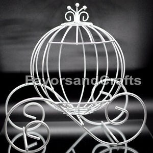 Image Is Loading Cinderella Pumpkin Carriage Wedding Wire Centerpiece Coach Carroza