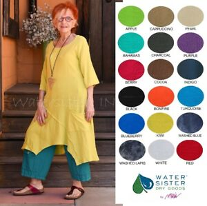 WATERSISTER-Cotton-Gauze-TANGO-TUNIC-Long-Top-1-S-M-2-L-XL-3-1X-2018-COLORS