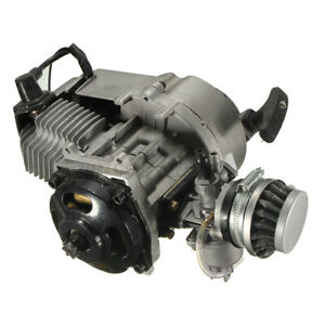 49cc-50cc-Moteur-Pocket-Filtre-Air-Carburateur-D-039-embrayage-Aluminium-Quad-Moto