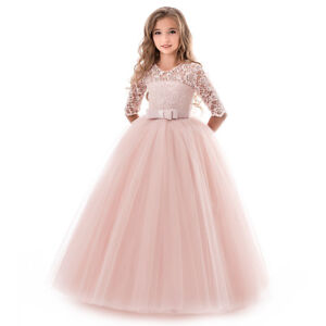 17b200a8ceb Image is loading Princess-Wedding-Gown-Flower-Girl-Dresses-Party-Dress-