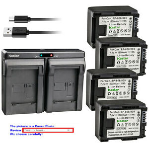 Kastar-Battery-Dual-USB-Charger-for-Canon-BP-809-Canon-VIXIA-HF-S30-HFS30-Camera