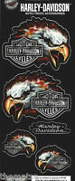 HARLEY DAVIDSON MOTORCYCLES EAGLE LOGO  STICKER DECAL SET
