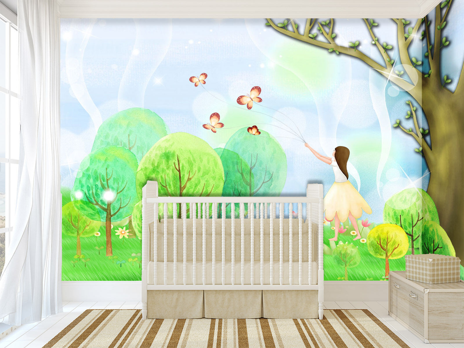 3D Cute girl 445 Wall Paper Print Wall Decal Deco Indoor Wall Murals