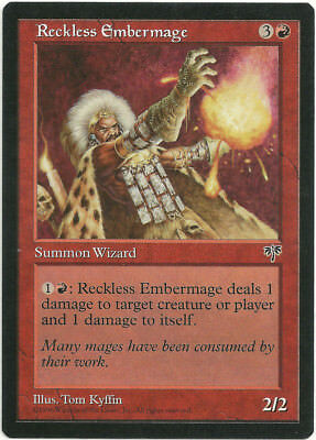7th Edtion *Rare Wizard* MTG 4x RECKLESS EMBERMAGE