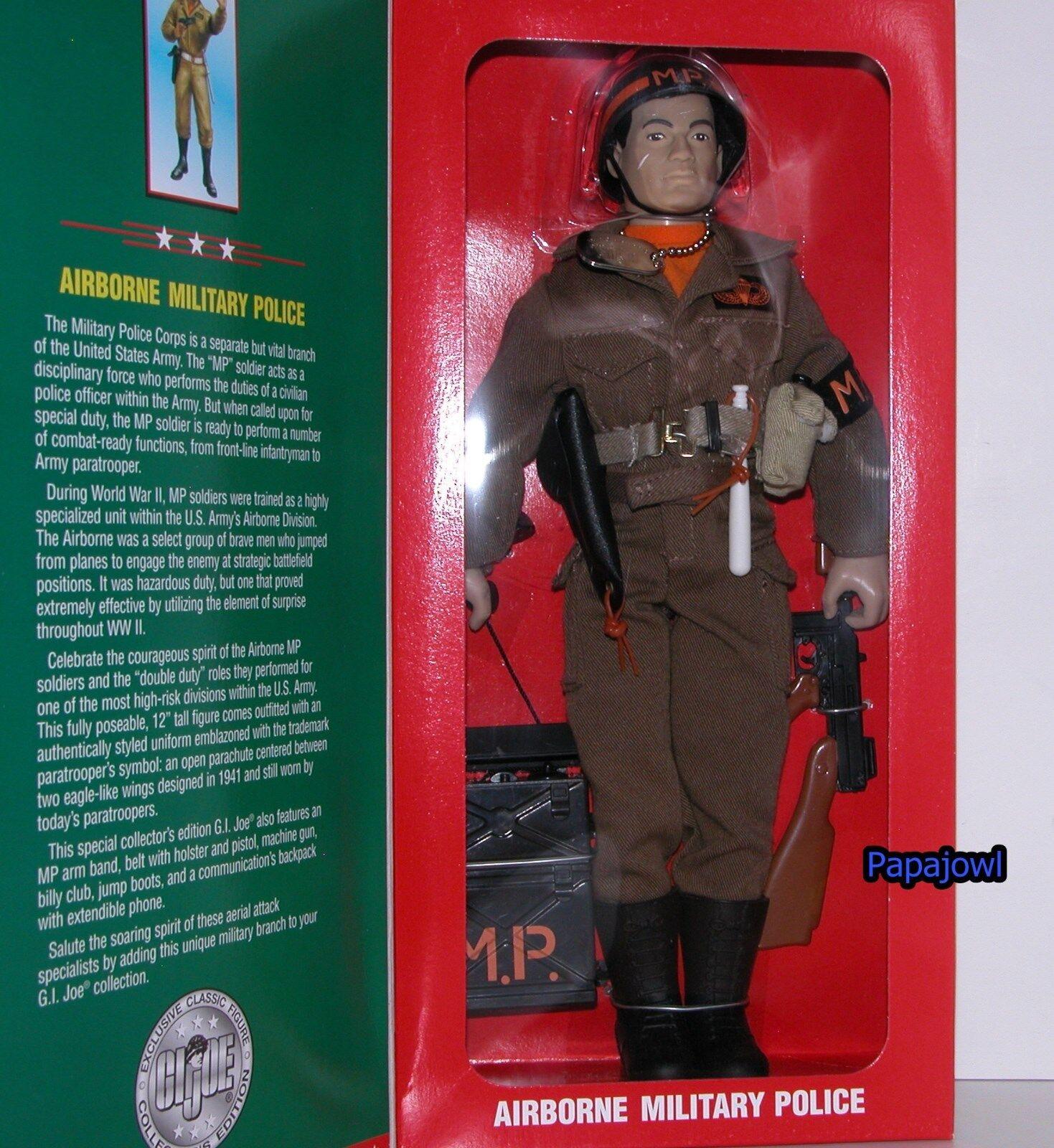 GI Joe US Airborn Military Police 12  Limited Edition Action Figure 1996