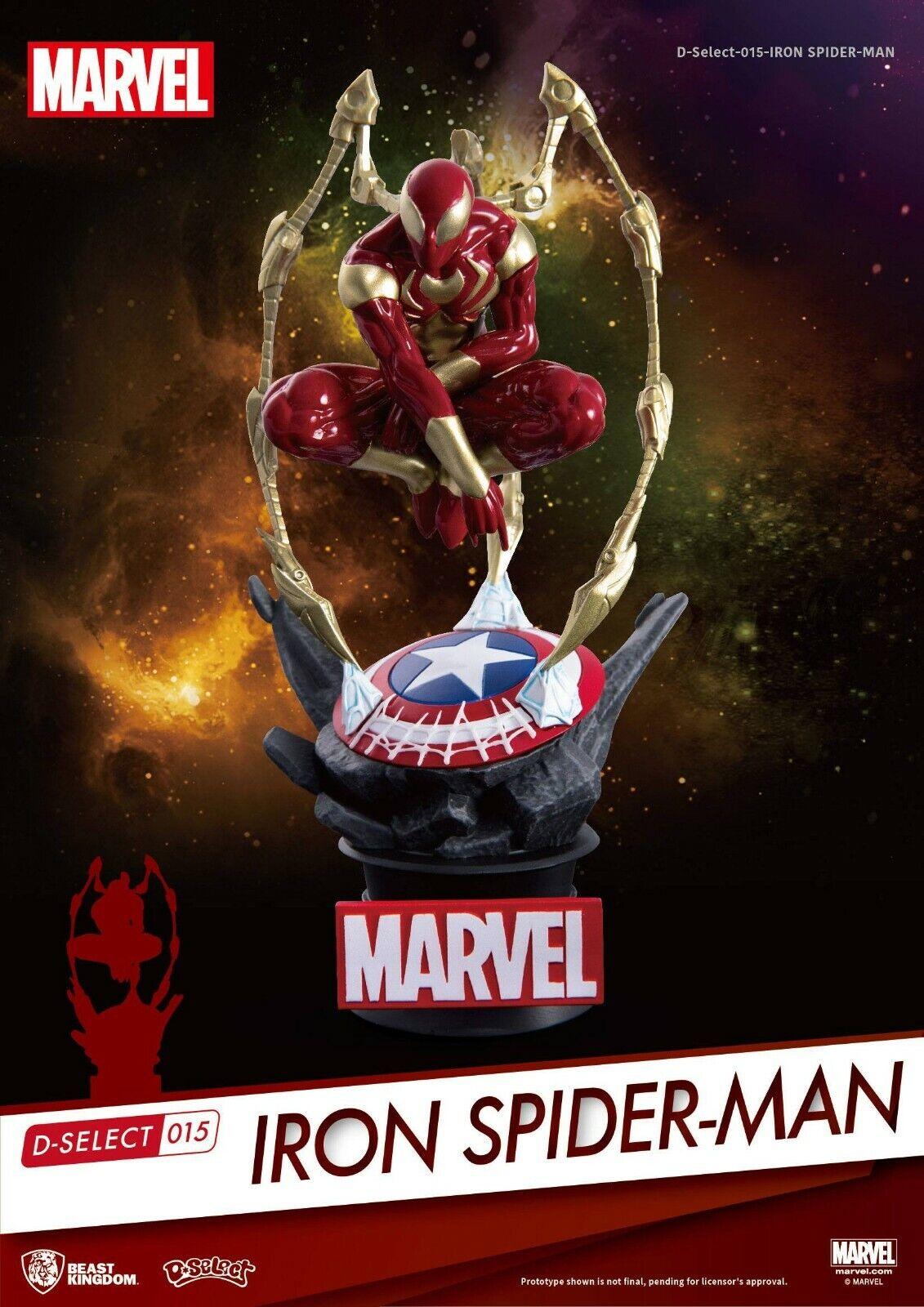IRON SPIDER-MAN DIORAMA MARVEL D-SELECT BEAST KINGDOM 16 CM