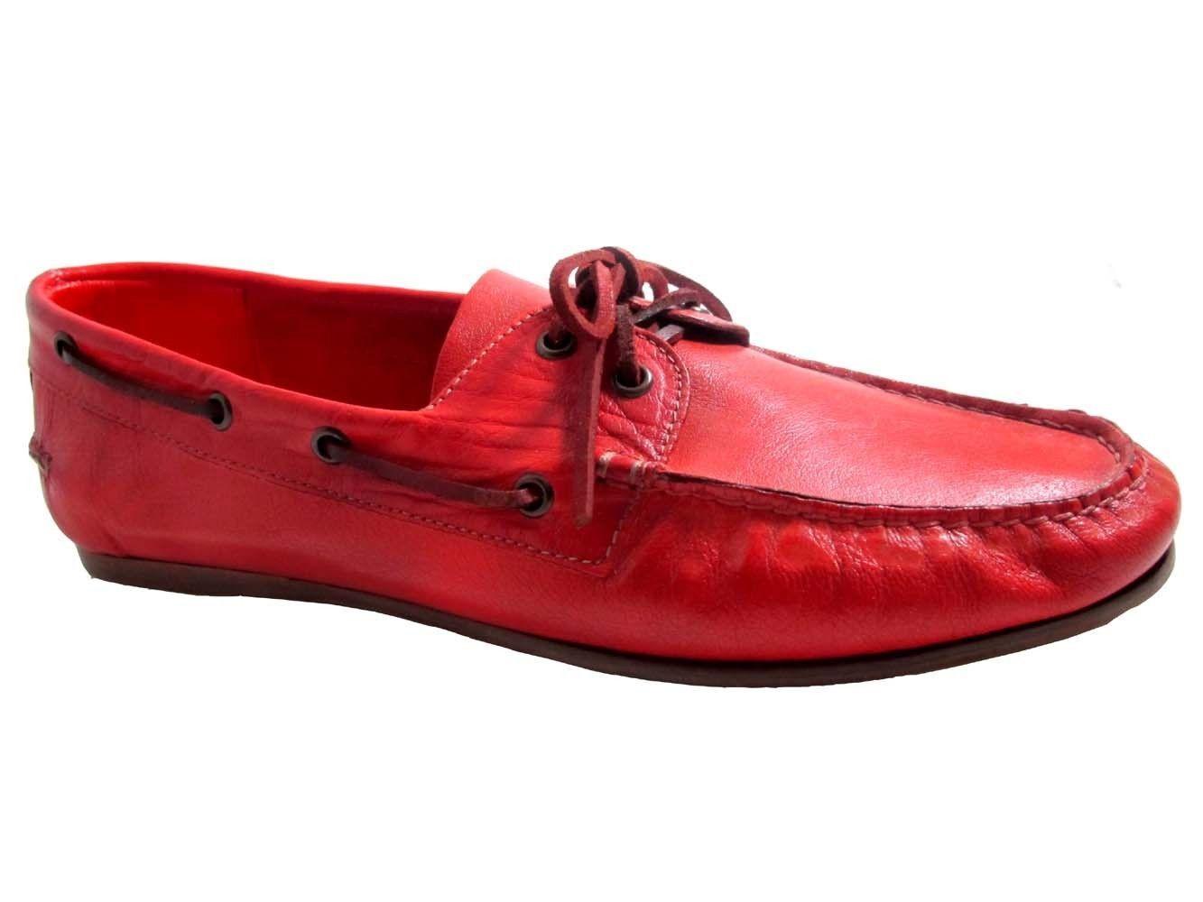 consegna lampo Davinci Uomo Slip-On Driving Moc Moc Moc M3003 Made By Boemos, Tan, Red  buona qualità