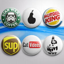 "1.5"" American Brand Parodies Funny Pinback Buttons Pin Button Pinbacks Badges"