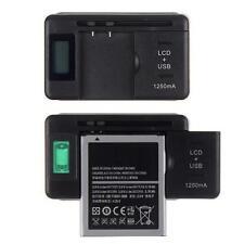 LCD Indicator Screen Universal Mobile Akku Ladegerät Charger USB-Port US Stecker