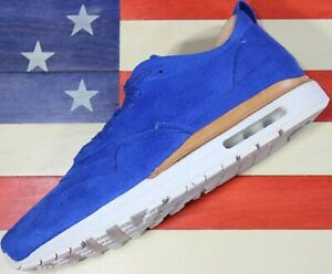 Nike-Air-Max-1-Game-Royal-Blue-Suede-Leather-WMNS-11-5-Running-Shoe-847672-400