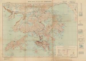 1949 War Office Map Of Hong Kong Ebay