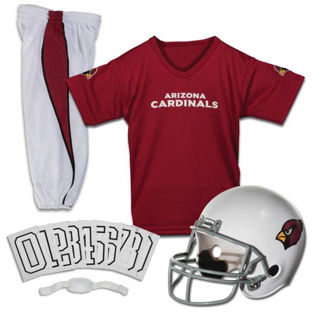 93b8c93212e0 Arizona Cardinals Uniform Set Youth NFL Football Jersey Helmet Kid Costume  Large