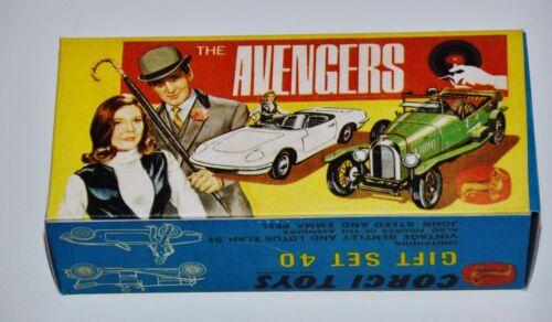 Reprobox Corgi Toys Giftset 40 The Avengers mit Innendisplay