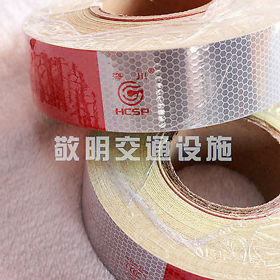 3m=10' Truck Reflective Conspicuity Tape wihte red Night Safety Strip Mark EY-91