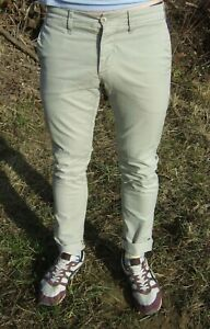 Carhartt Wip Para Hombre Pantalon De Sid Sarga Stretch Pantalones Tipo Chino De Corte T400 Slim Talla W31 L34 Ebay